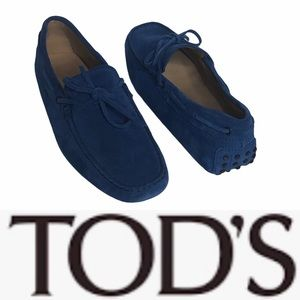 Tods Men's or Womens Blue Suede Gommino Loafer